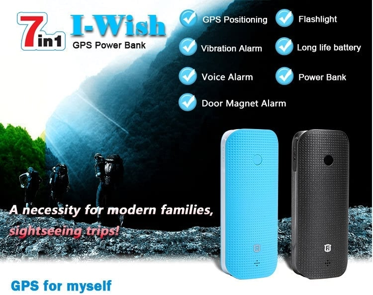 RF-V20 Long Battery Life GPS power bank For luggage