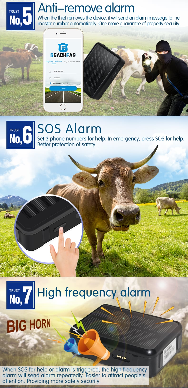 Rf V34 Long Battery Cattle Sheep Animals Tracking Location