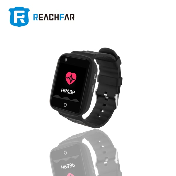 RF-V46 4G GPS Positioning Video Telephone Watch for Old People and Children Waterproof Heart Rate and